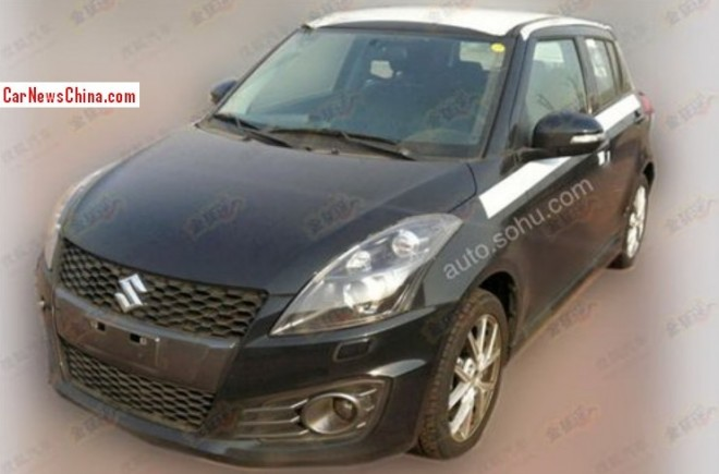 Spy Shots: Suzuki Swift Sport testing in China