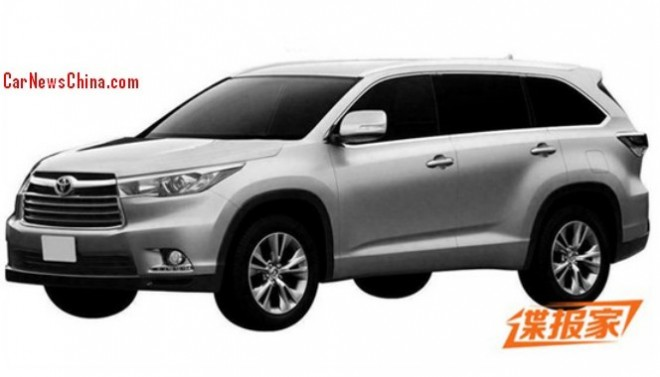 Patent Applied: 2014 Toyota Highlander will be made in China