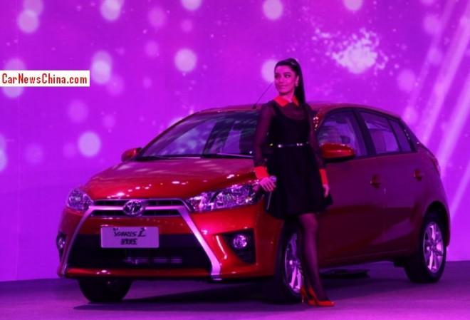 Toyota Yaris L hits the China car market