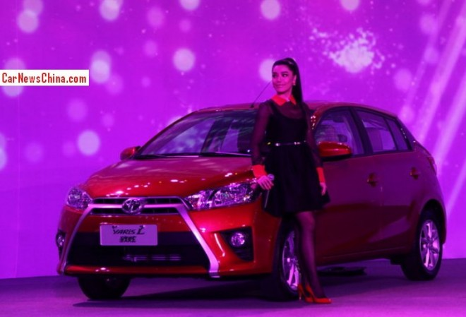 Toyota Yaris L hits the China car market