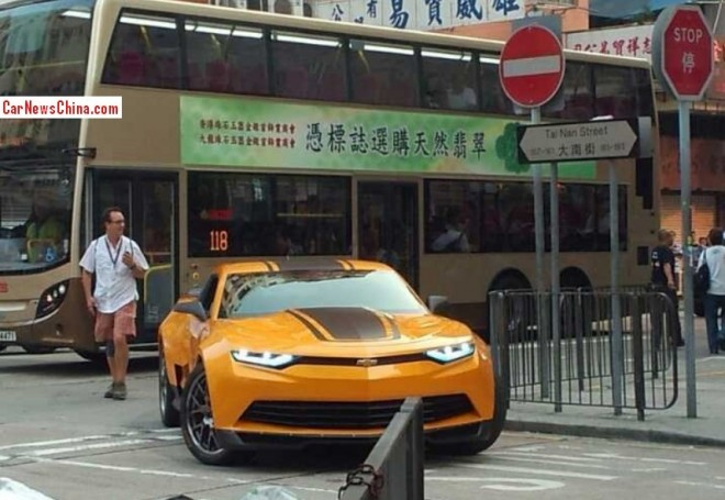 New Bumblebee Photos from the Hong Kong Set of Transformers: Age of Extinction