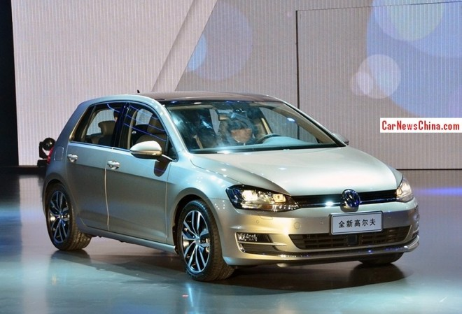 Volkswagen Golf 7 debuts early on the 2013 Guangzhou Auto Show
