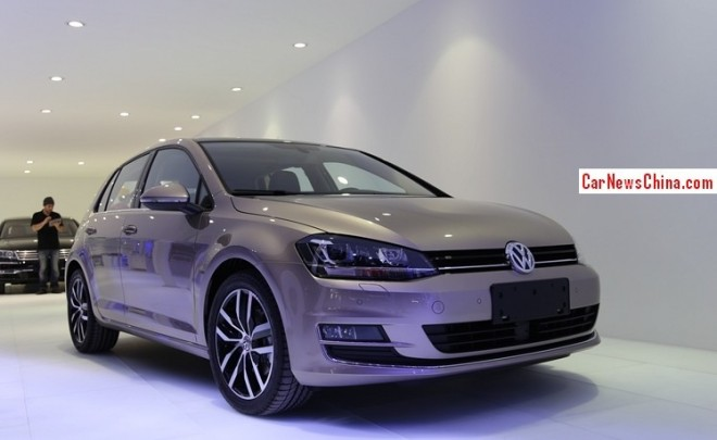 China-made Volkswagen Golf 7 arrives at the Guangzhou Auto Show