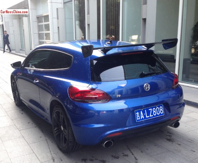 Volkswagen Scirocco has a Big Wing in China