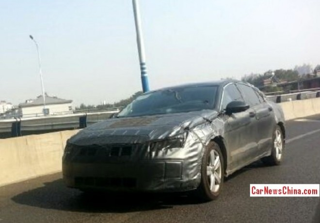 Spy Shots: new China-only Volkswagen sedan seen testing on Chinese roads