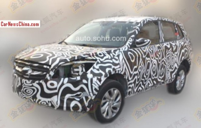 Spy Shots: 2014 Beijing Auto C51X seen testing in China