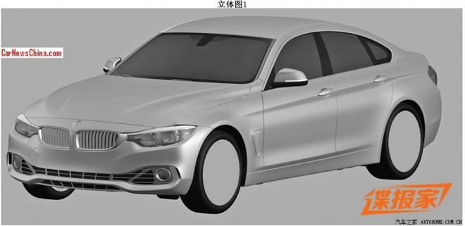 Patent Applied: BMW 4 Series Gran Coupe leaks out in China