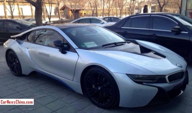 Spy Shots: BMW i8 seen testing in China