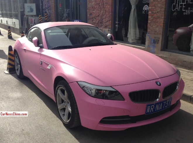 BMW Z4 is matte Pink in China