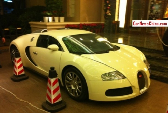 Spotted in China: Bugatti Veyron at the club in Shenzhen