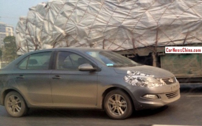 Spy Shots: Chery Arrizo 3 sedan seen testing in China