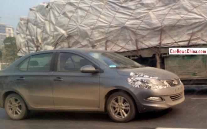 Spy Shots: Chery Arrizo 3 sedan seen testing in China
