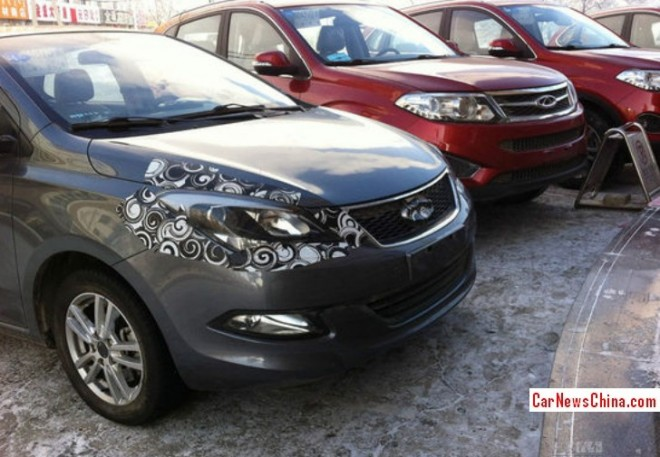 Spy Shots: Chery Arrizo 3 is getting Ready for the China car market