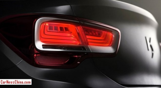 Citroen teases the China-only Citroen DS 5LS sedan