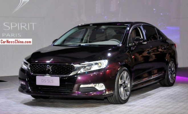 This is the new Citroen DS 5LS sedan for the China car market