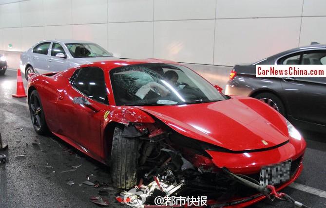 Ferrari Crash China 1