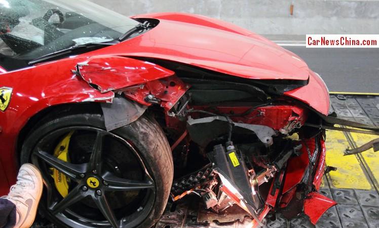 Ferrari Crash China 2
