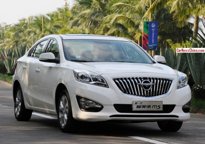 This is the new Haima M5 sedan for the China car market