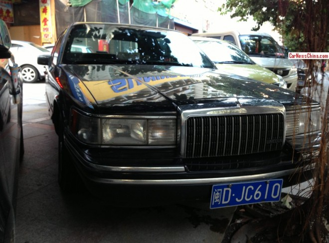 Spotted in China: Lincoln Town Car in black