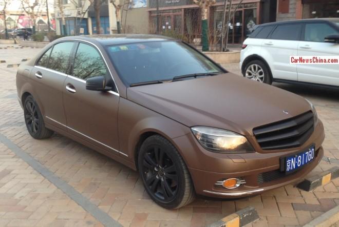 Mercedes-Benz C-Class sedan is poo-poo brown in China