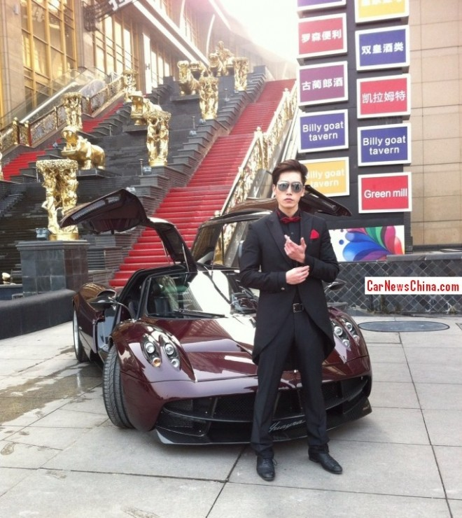 Photo shoot with the first Pagani Huayra in China