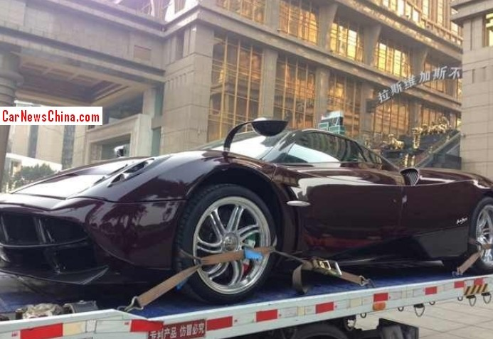 the gear shift: first pagani huayra arrives in china.