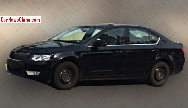 Spy Shots: third generation Skoda Octavia testing in China