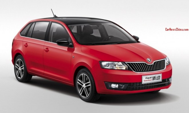 Official Photos of the China-made Skoda Rapid Spaceback