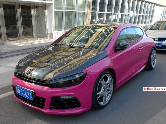 Volkswagen Scirocco is Pinky Porsche in China