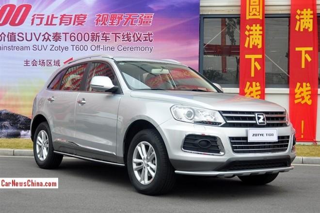 Zotye T600 SUV rolls off the line in China