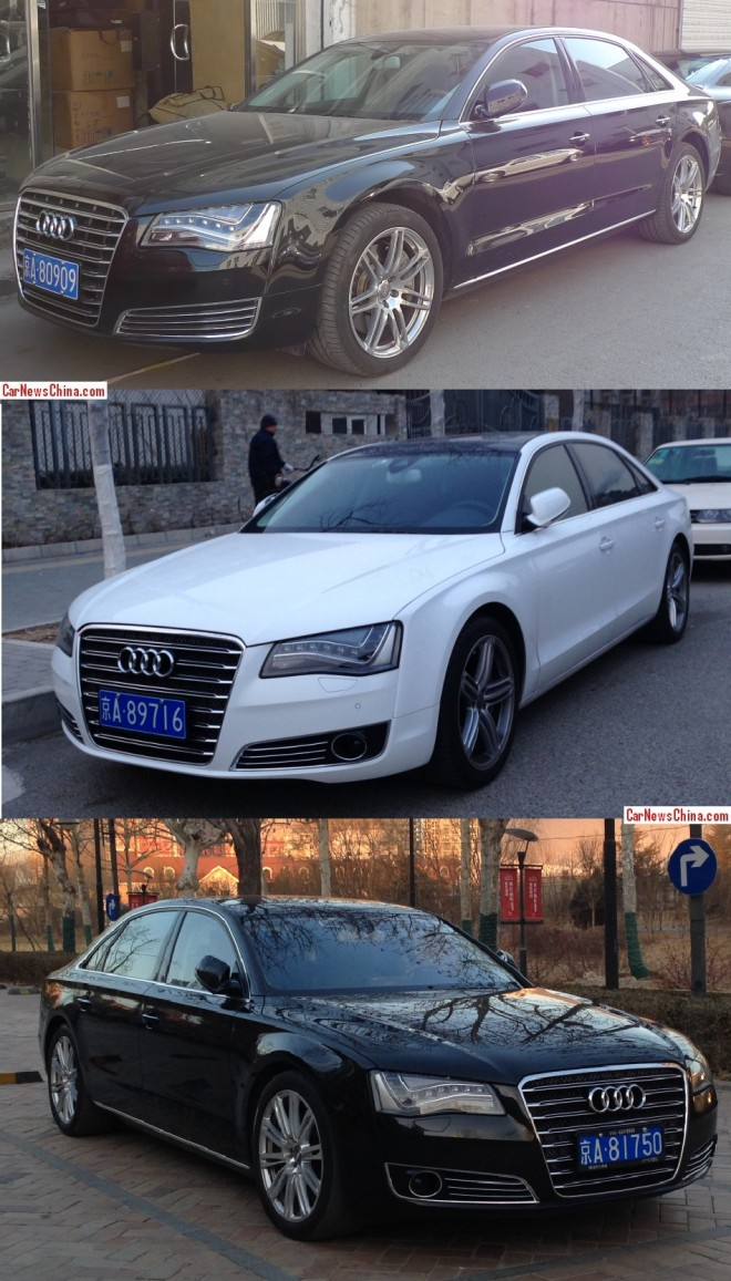 Audi A8L's have Licenses in China