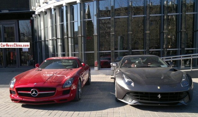 Super Car China Double  Spot: Mercedes-Benz SLS AMG & Ferrari F12berlinetta