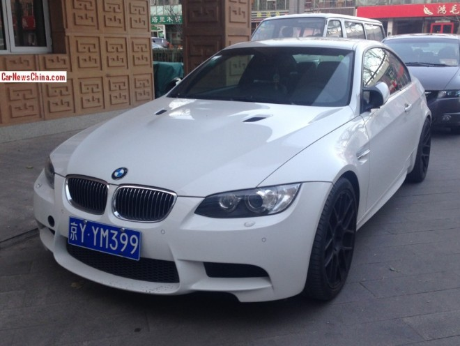 BMW M3 Coupe is White with a License in China