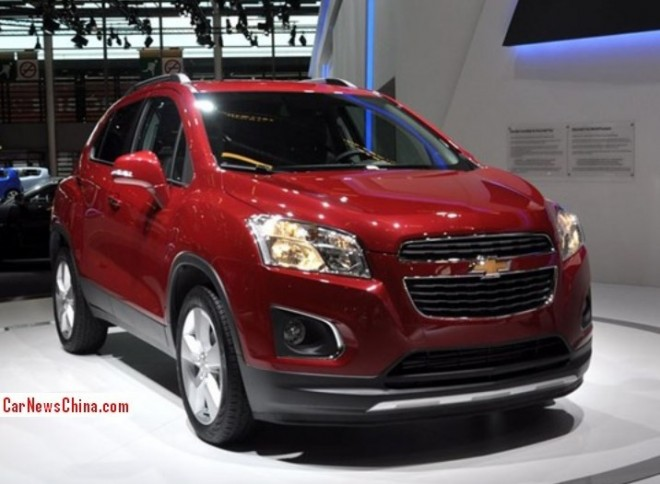 Chevrolet Trax will hit the China car market in April