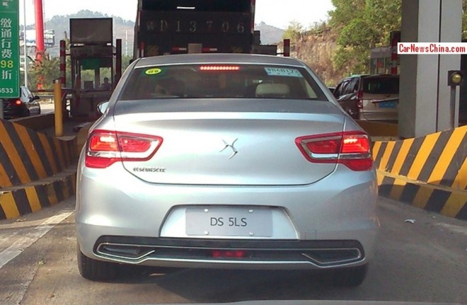 Spy Shots: Citroen DS 5LS pops up in China