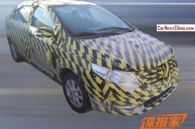 Spy Shots: Dongfeng Fengshen D23 sedan testing in China