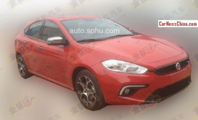 Spy Shots: Fiat Ottimo Sport is testing in China