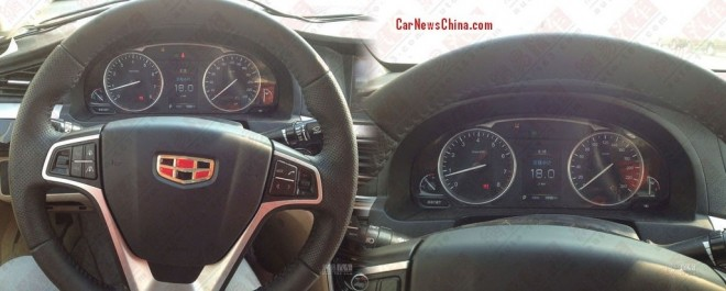 Spy Shots; Geely Emgrand EC9 sedan, the Interior
