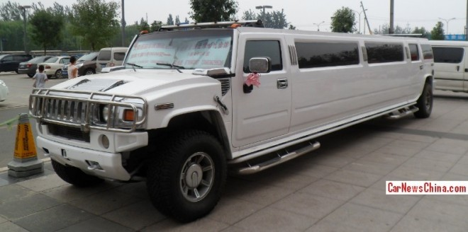 Hummer H2 is super stretched & super white in China