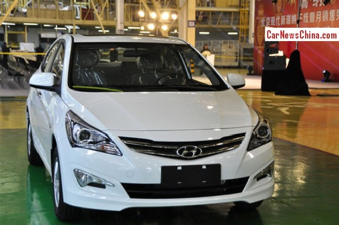 Facelifted Hyundai Verna Rolls Off The Assembly Line In China
