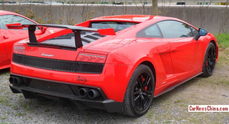 Lamborghini Gallardo Lp 570 4 Super Trofeo Stradale Is Red In China