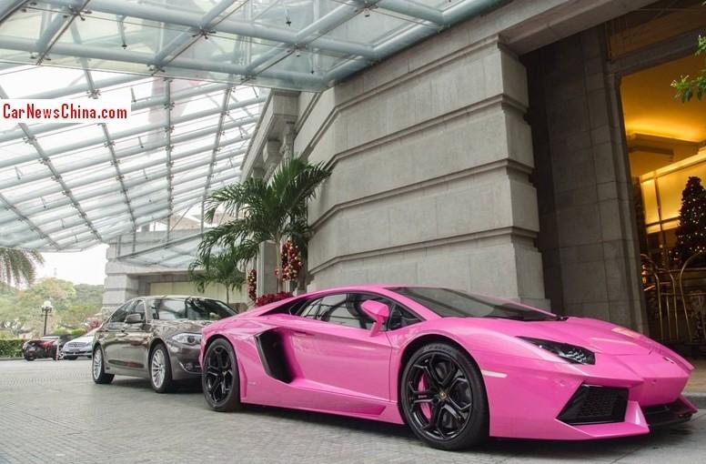 lamborghini aventador is shiny pink in china - Lamborghini Aventador Gold And Black