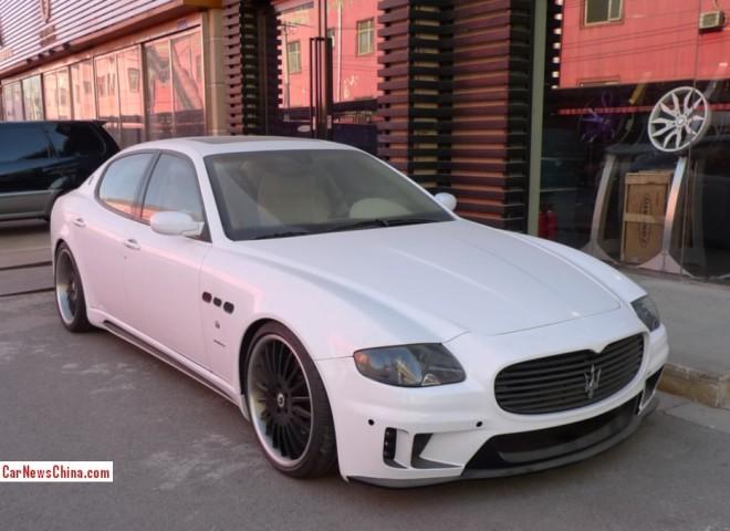 Maserati Quattroporte is a Low Rider in China