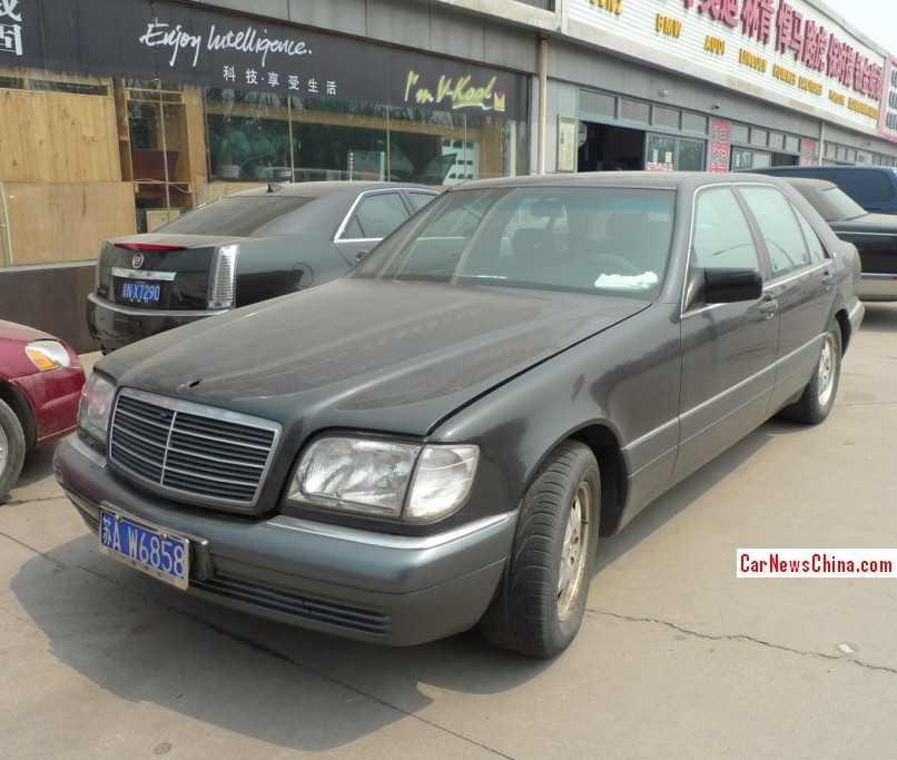 Spotted in china w140 mercedes benz s600 is black on the for Mercedes benz china