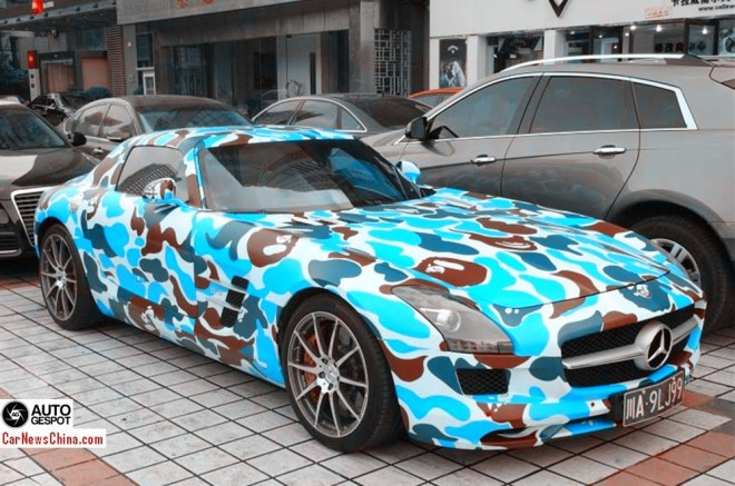 Mercedes-Benz SLS AMG is BAPE in China