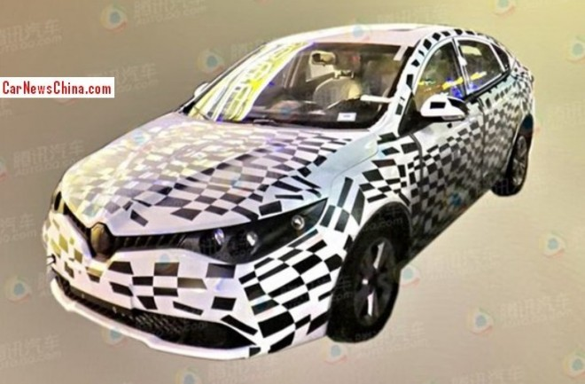 Spy Shots: MG5 Four-door Coupe testing in China