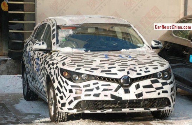 Spy Shots: new photos of the MG5 4-door Coupe