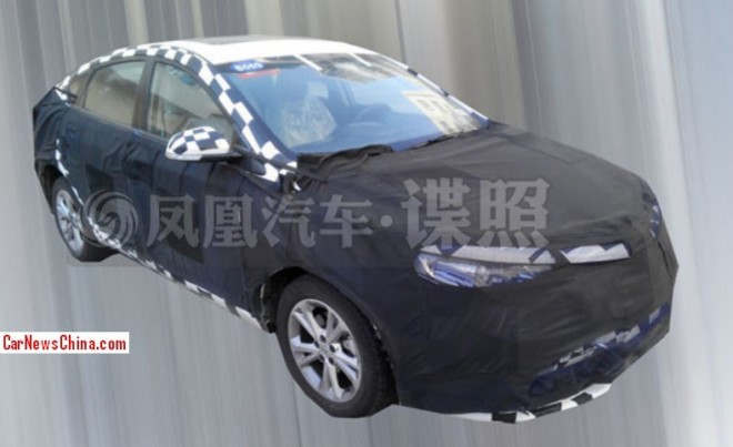 Spy Shots: MG5 Fastback testing in China