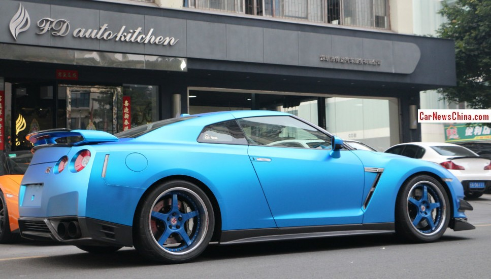 Nissan Gt R Is Matte Blue In China Carnewschina Com