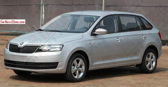 Spy Shots: China-made Skoda Rapid Spaceback ready to Hit the Chinese auto market